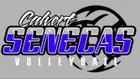 Calvert Senecas Girls Varsity Volleyball Fall 17-18 team photo.