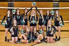 North Hall Trojans Girls Varsity Volleyball Fall 17-18 team photo.