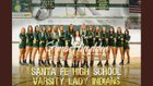 Santa Fe Indians Girls Varsity Volleyball Fall 17-18 team photo.