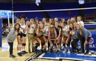 Webb Spartans Girls Varsity Volleyball Fall 17-18 team photo.