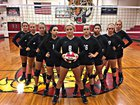 Hurley Tigers Girls Varsity Volleyball Fall 17-18 team photo.