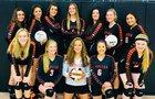 Capitan Tigers Girls Varsity Volleyball Fall 17-18 team photo.