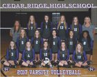 Cedar Ridge Raiders Girls Varsity Volleyball Fall 17-18 team photo.