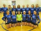 Candor Indians Girls Varsity Volleyball Fall 17-18 team photo.