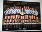 Briarcrest Christian Saints Girls Varsity Volleyball Fall 17-18 team photo.