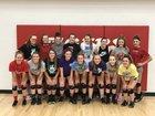 Mansfield Tigers Girls Varsity Volleyball Fall 17-18 team photo.