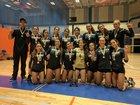 Reagan Bison Girls Varsity Volleyball Fall 17-18 team photo.