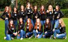 Highlands Ranch Falcons Girls Varsity Volleyball Fall 17-18 team photo.