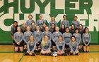 Schuyler Warriors Girls Varsity Volleyball Fall 17-18 team photo.