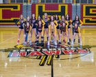 Centennial Hawks Girls Varsity Volleyball Fall 17-18 team photo.