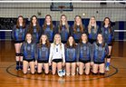 Oakesdale Nighthawks Girls Varsity Volleyball Fall 17-18 team photo.