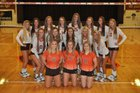 Padua Franciscan Bruins Girls Varsity Volleyball Fall 17-18 team photo.