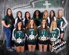 Poetry Community Christian Pioneer Girls Varsity Volleyball Fall 17-18 team photo.