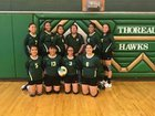 Thoreau Hawks Girls Varsity Volleyball Fall 17-18 team photo.