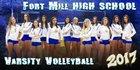 Fort Mill Yellowjackets Girls Varsity Volleyball Fall 17-18 team photo.