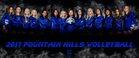 Fountain Hills Falcons Girls Varsity Volleyball Fall 17-18 team photo.