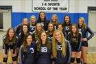 Millard Eagles Girls Varsity Volleyball Fall 17-18 team photo.