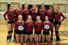 Maple Grove Crimson Girls Varsity Volleyball Fall 17-18 team photo.