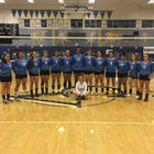 Chula Vista Spartans Girls Varsity Volleyball Fall 17-18 team photo.