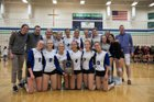 Notre Dame Academy Tritons Girls Varsity Volleyball Fall 17-18 team photo.