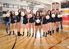 Albuquerque Academy Chargers Girls Varsity Volleyball Fall 17-18 team photo.