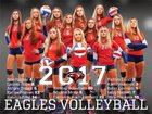 Oak Mountain Eagles Girls Varsity Volleyball Fall 17-18 team photo.