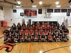 Greenfield/Northwestern Tigers Girls Varsity Volleyball Fall 17-18 team photo.