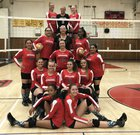 Mountain Empire Red Hawks Girls Varsity Volleyball Fall 17-18 team photo.