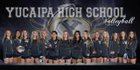 Yucaipa Thunderbirds Girls Varsity Volleyball Fall 17-18 team photo.