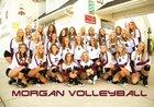Morgan Trojans Girls Varsity Volleyball Fall 17-18 team photo.