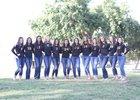 Golden West Trailblazers Girls Varsity Volleyball Fall 17-18 team photo.