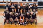 Rosman Tigers Girls Varsity Volleyball Fall 17-18 team photo.