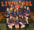 Liverpool Warriors Girls Varsity Volleyball Fall 17-18 team photo.
