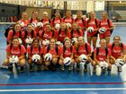 Castle Knights Girls Varsity Volleyball Fall 17-18 team photo.