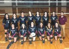 North Side Steers Girls Varsity Volleyball Fall 17-18 team photo.