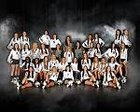 Bentonville Tigers Girls Varsity Volleyball Fall 17-18 team photo.