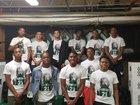 Spring Lions Boys Varsity Basketball Winter 17-18 team photo.