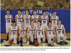 Mountainburg Dragons Boys Varsity Basketball Winter 17-18 team photo.