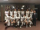 Riverdale Raiders Boys Varsity Basketball Winter 17-18 team photo.