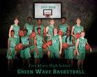 Fort Myers Green Wave Boys Varsity Basketball Winter 17-18 team photo.