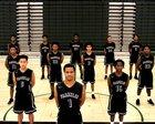 Franklin Quakers Boys Varsity Basketball Winter 17-18 team photo.