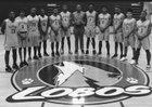 Rancho Dominguez Lobos Boys Varsity Basketball Winter 17-18 team photo.