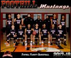 Foothill Mustangs Boys Varsity Basketball Winter 17-18 team photo.