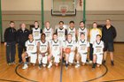 Nauset Regional Warriors Boys Varsity Basketball Winter 17-18 team photo.