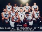 Beatty Rangers Boys Varsity Basketball Winter 17-18 team photo.