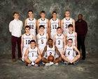 Barker Raiders Boys Varsity Basketball Winter 17-18 team photo.