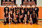 Plattsburgh Hornets Boys Varsity Basketball Winter 17-18 team photo.