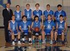 California Lutheran C-Hawks Boys Varsity Basketball Winter 17-18 team photo.
