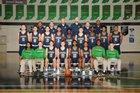 Cathedral Fighting Irish Boys Varsity Basketball Winter 17-18 team photo.