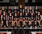 Tully Black Knights Boys Varsity Basketball Winter 17-18 team photo.
